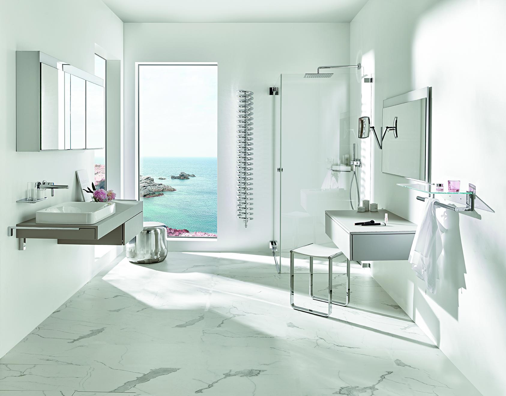 Badezimmer mit Radiator als Blickfang