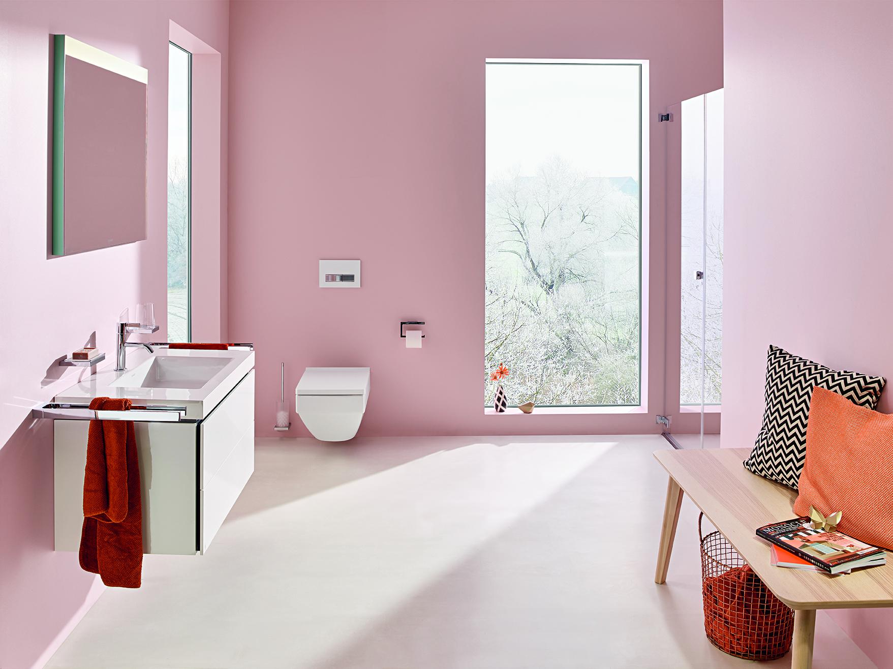 Zart und verspielt - Badezimmer mit rosa Anstrich