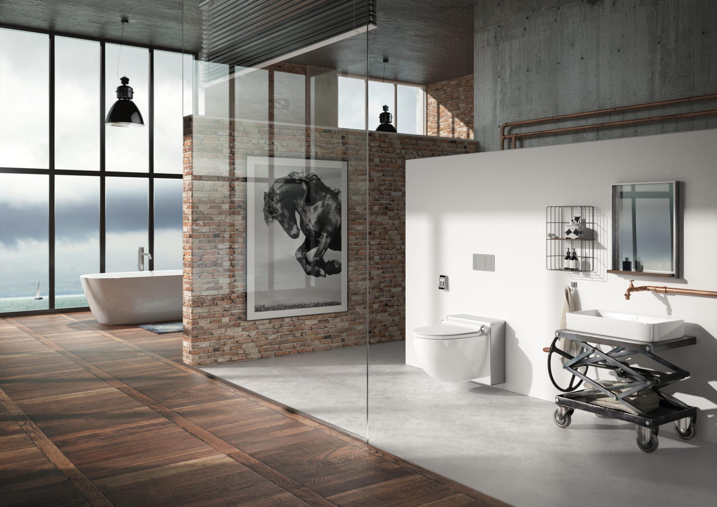 Badezimmer mit Dusch-WC
